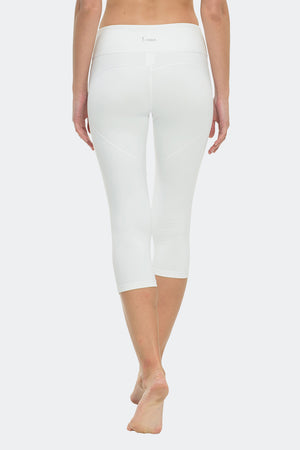 Ongasoft Yoga pants-K7-002White-Back