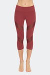 Ongasoft Yoga pants-K7-002Red-Front