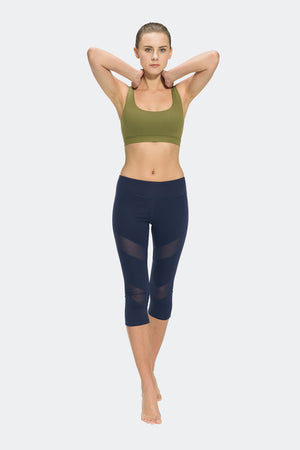 Ongasoft Yoga pants-K7-002Blue-Model
