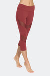 Ongasoft Yoga pants-K7-002Red-Side