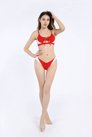 Women Bikini  Two Piece High Cut Bathing Suits