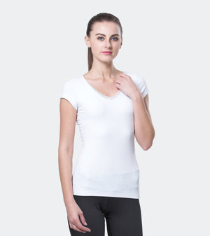 Ongasoft Yoga Tops-T001White-Front