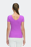 Ongasoft Yoga Tops-T006Purple-Back
