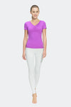 Ongasoft Yoga Tops-T006Purple-Model