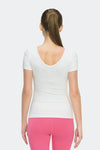 Ongasoft Yoga Tops-T006White-Back