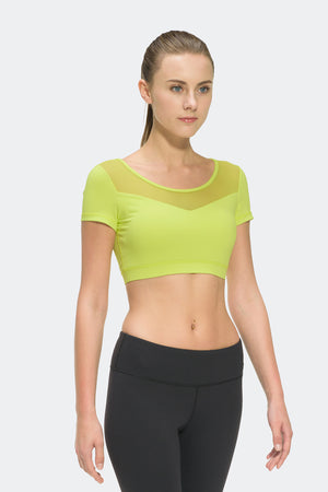 Ongasoft Yoga Tops-T008Green-Front