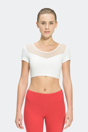 Ongasoft Yoga Tops-T008White-Front