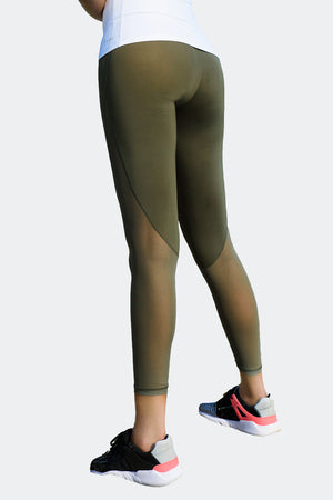 Ongasoft Yoga pants-K026Green-Side