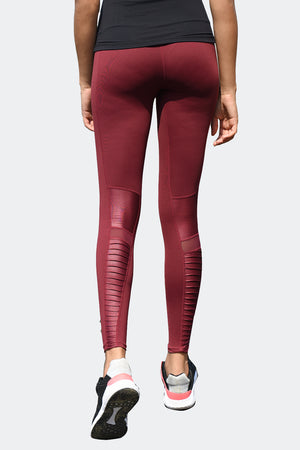Ongasoft Yoga pants-K9006Red-Back