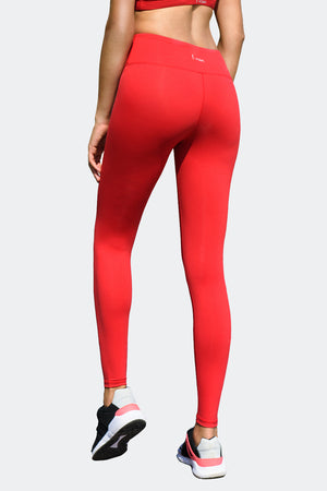 Ongasoft Yoga pants-9002Red-Back