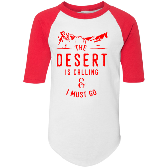 The Desert is Calling - Red Jersey Tee - | Outdoor Wear | Wear Your Wild Co.