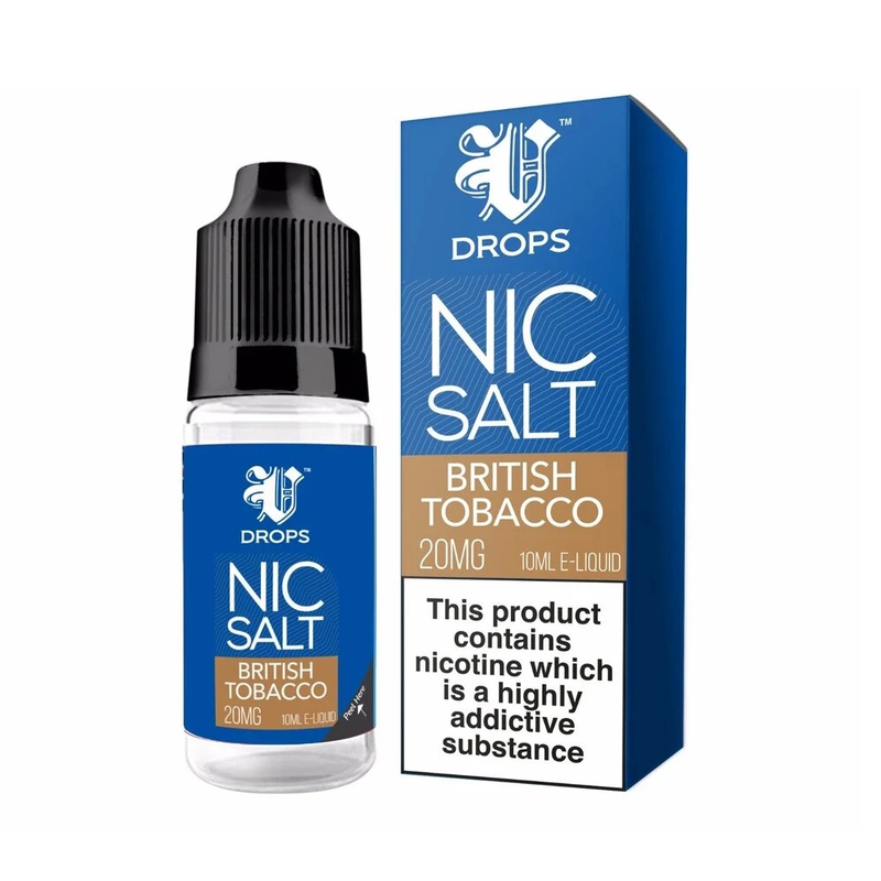 British Tobacco 10ml Nic Salt E-Liquid V Drops - Rainbow Range