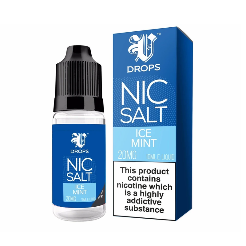 Icemint 10ml Nic Salt E-Liquid V Drops - Rainbow Range