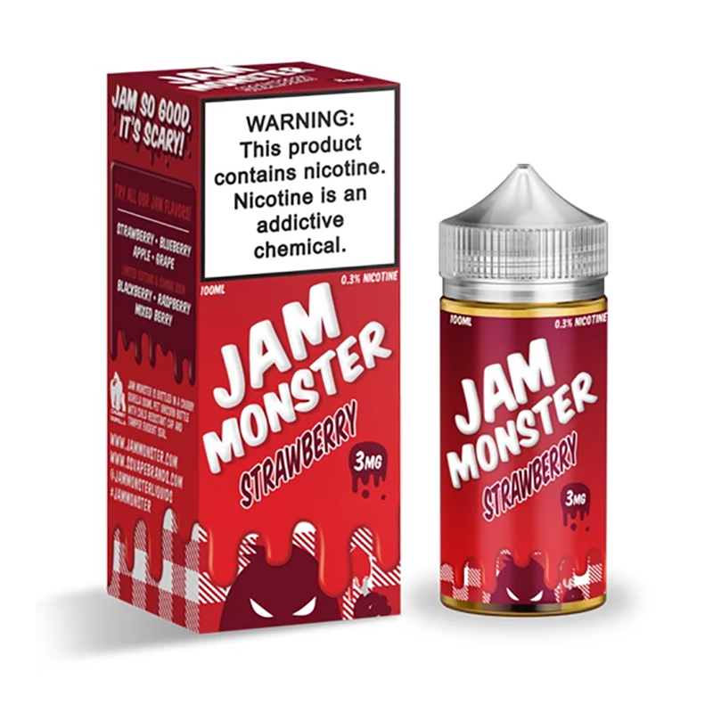 Strawberry 100ml E-Liquid By Jam Monster