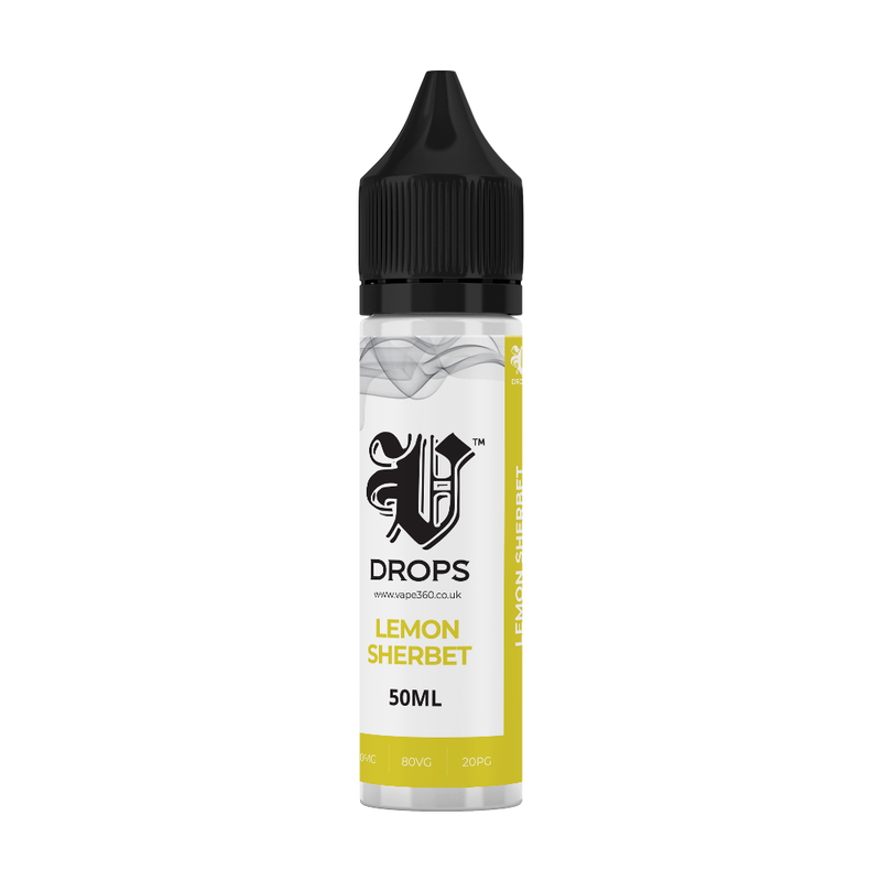 Lemon Sherbet 50ml Shortfil E-Liquid - V Drops - White Range