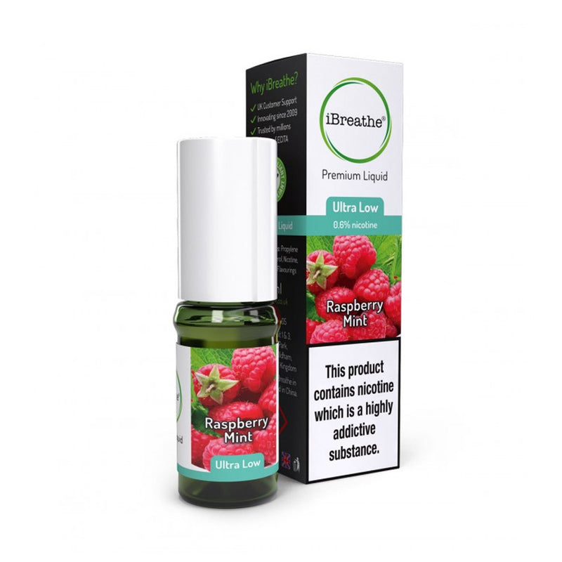 Raspberry Mint 10ml E-Liquid by iBreathe