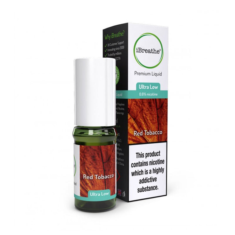 Red Tobacco 10ml E-Liquid by iBreathe