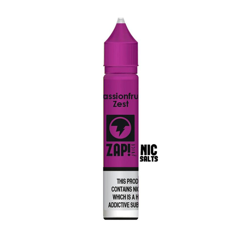 Passionfruit Zest 10ml Nic Salt E Liquid By Zap Juice