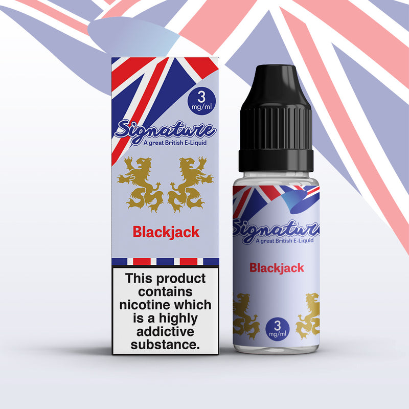 Black Jack 10ml E Liquid by Signature