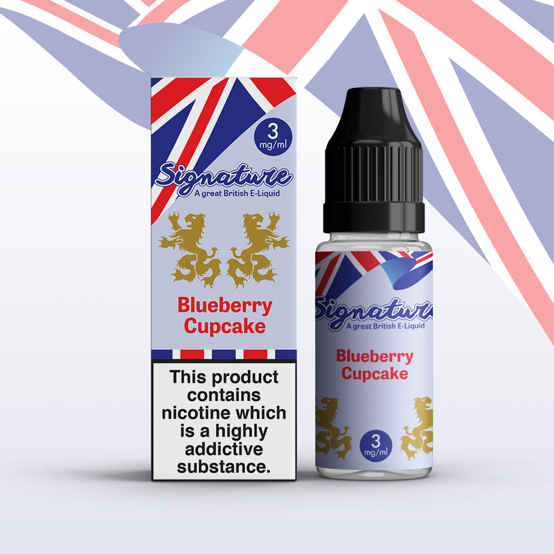 Blueberry Cupcake 10ml E Liquid by Signature