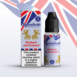Rhubarb and Custard 10ml E Liquid by Signature