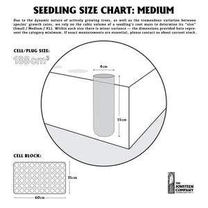 Seedling Size Chart | Medium | The Jonsteen Company