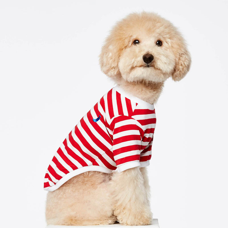 TPW David striped T shirt Red