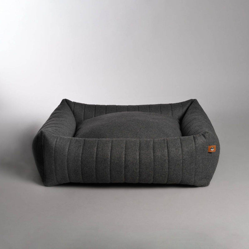 Lord Lou Columbus Dog Bed - Dark Grey