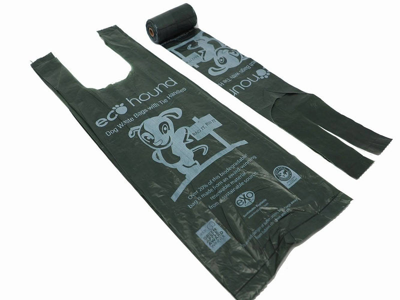 Eco Hound Med/Large Poo Bag with Tie Handles - Single Roll