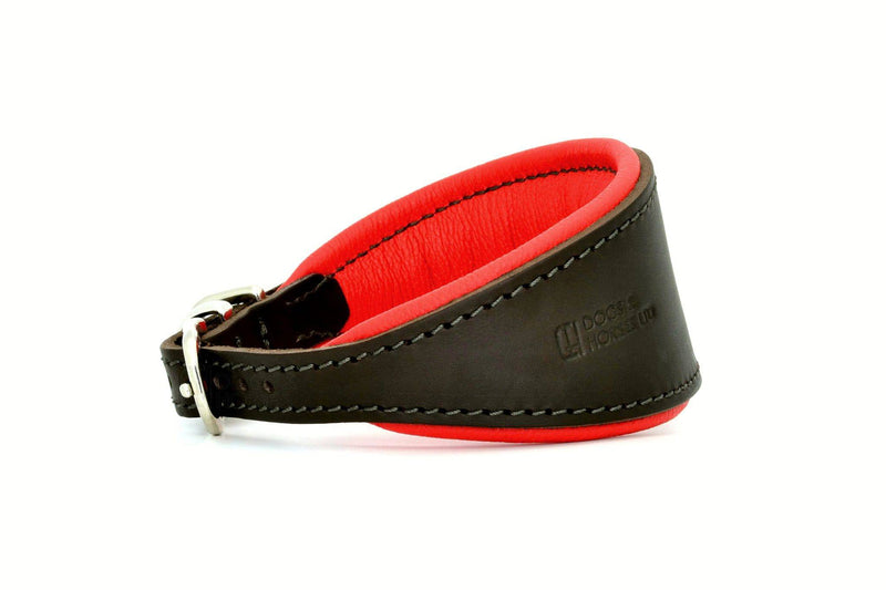 D&H Leather Hound Collar Brown/Red