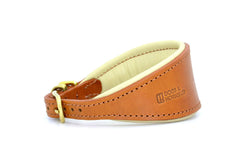 D&H Leather Hound Collar Tan/Cream