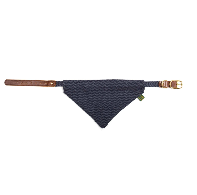 Tweed Neckerchief H/B Navy