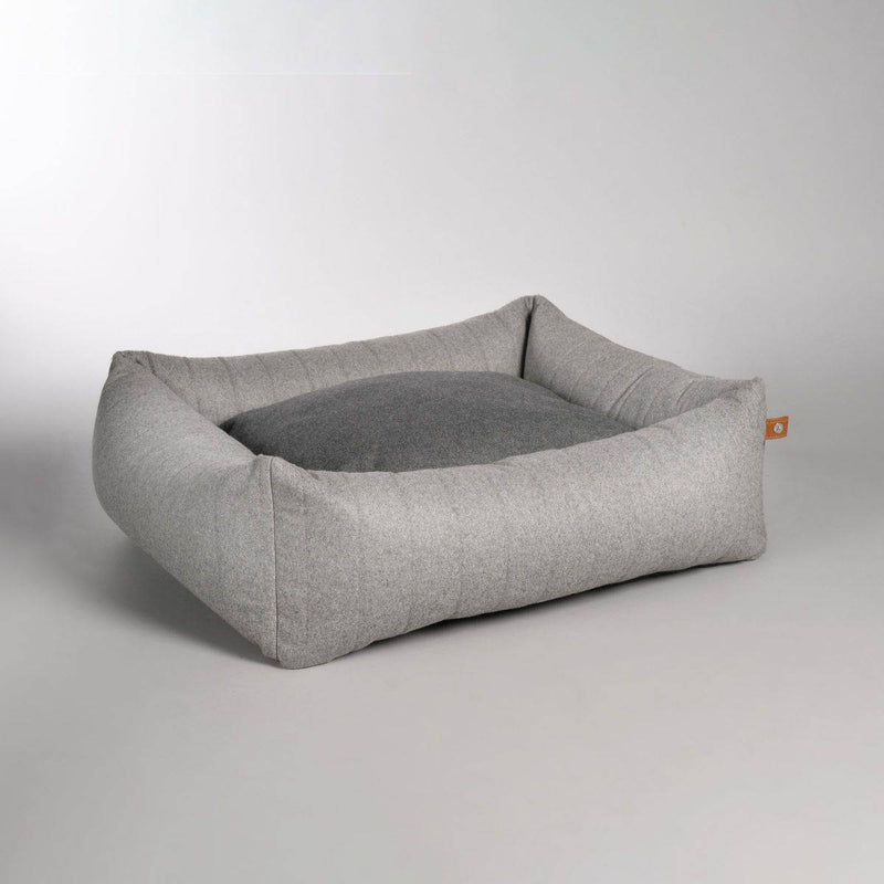 Lord Lou Columbus Dog Bed -  Light Grey
