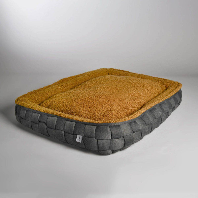 Lord Lou Quinten Dog Bed - Grey/Brown