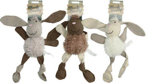 Wooly Luxury Flatfeet Bunny Grey