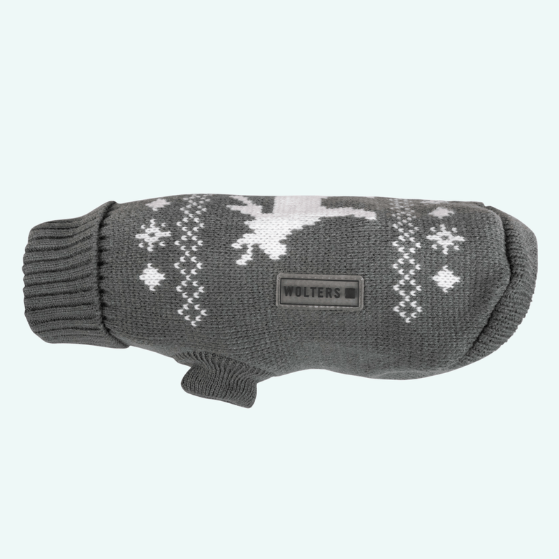 Christmas Elk Jumper Grey