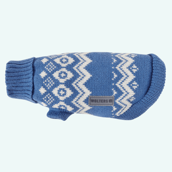 Christmas Fairisle Jumper Blue/White