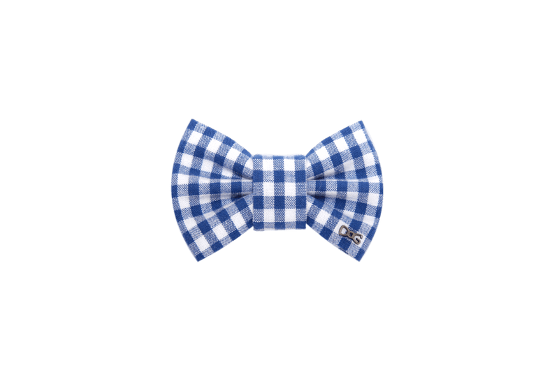 FD Bow Tie - Blue Gingham Check