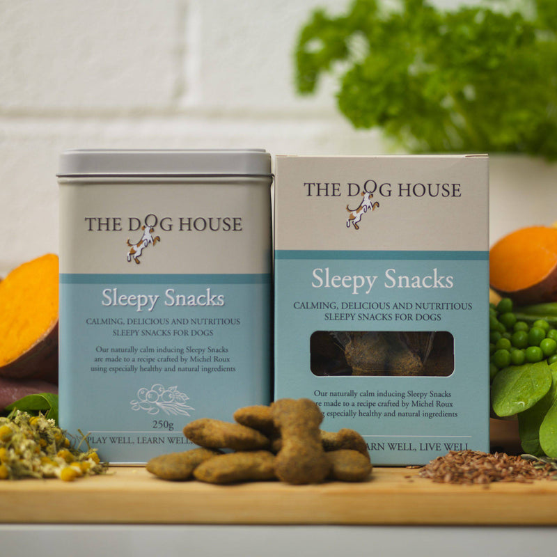 The Dog House Sleepy Snacks tin