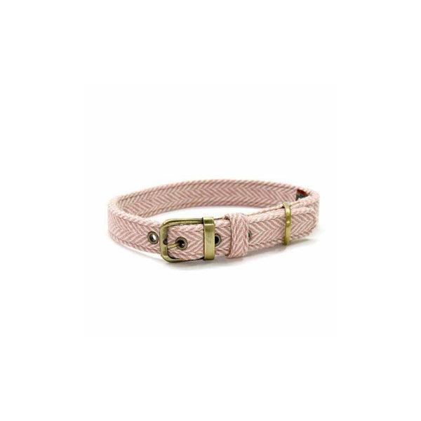 Tweed Dog Collar HB Pink