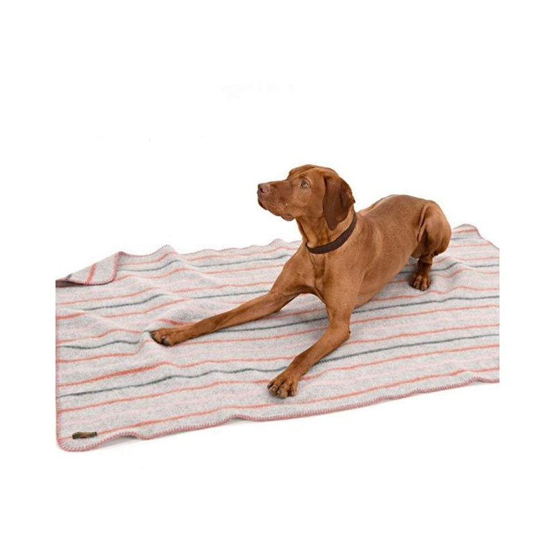 Recycled Random Stripe Dog Blanket - 100x140cms