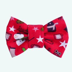 Funky Dog Red Snowman Xmas Bow Tie