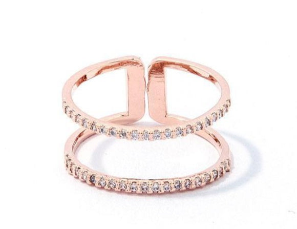 Chic Princess Rhinestone Zirconia Ring