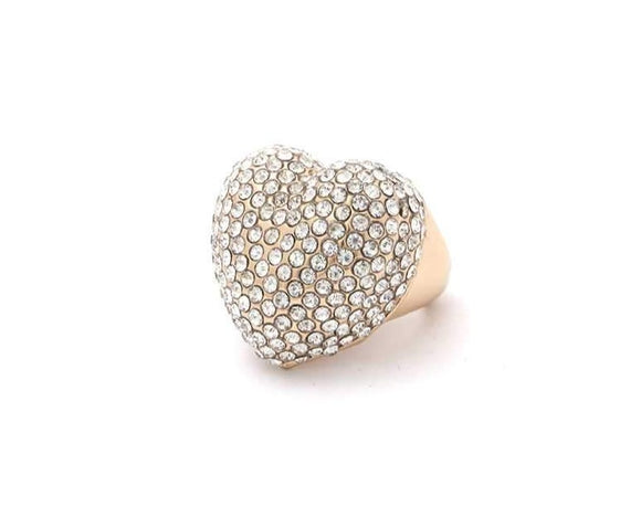 Bling Heart Shape Ring