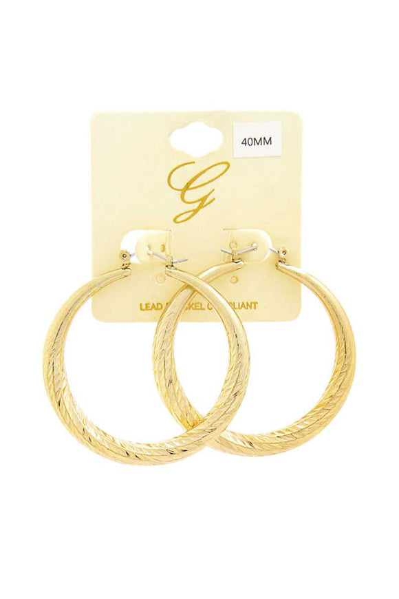 Modern Pattern Hoop Drop Earring