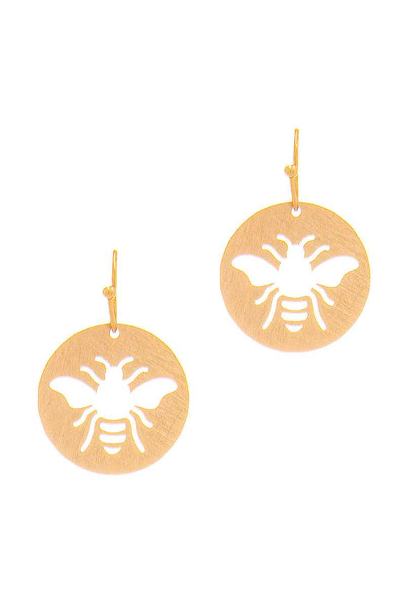 Cute Fashion Bee Hollow Drop Earring