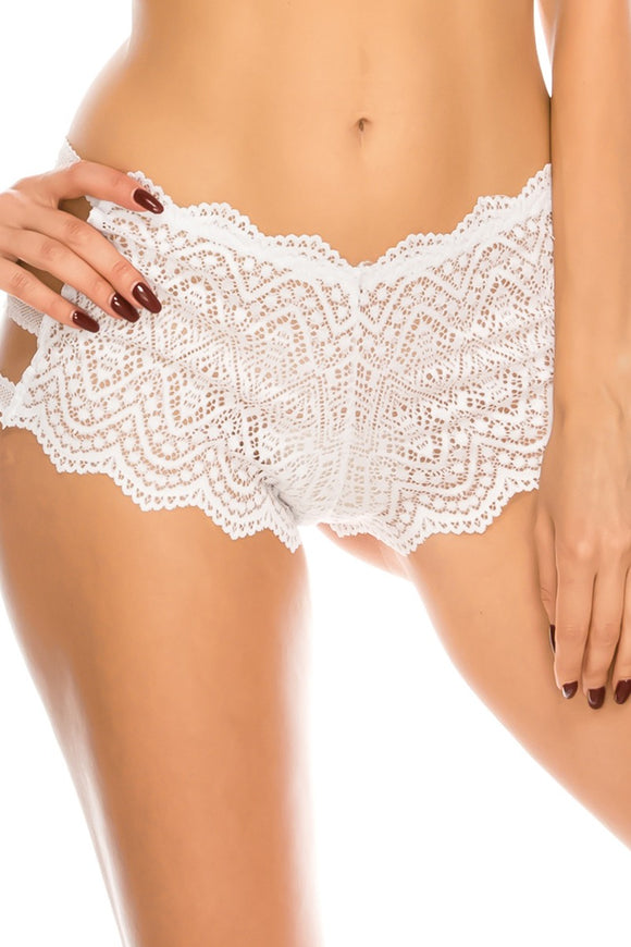 Lace Caged Boyshort