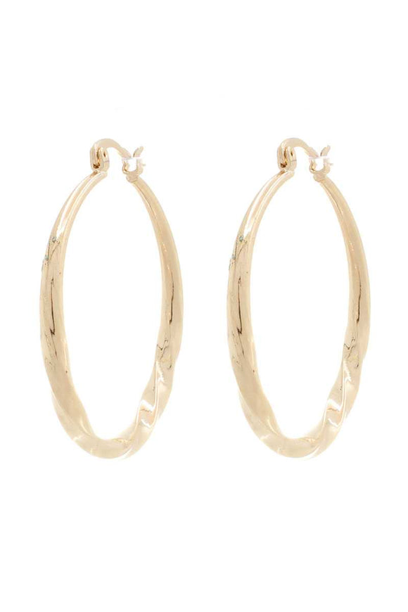 Twist Metal Hoop Earring