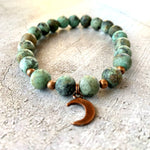 African Turquoise Moon Bracelet