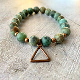 African Turquouse Triangle Bracelet